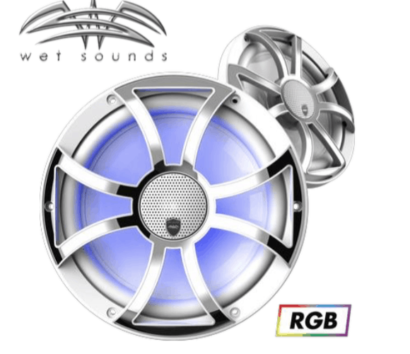 REVO CX-10 XS-W-SS | Wet Sounds High Output Component Style 10″ Marine Coaxial Speakers