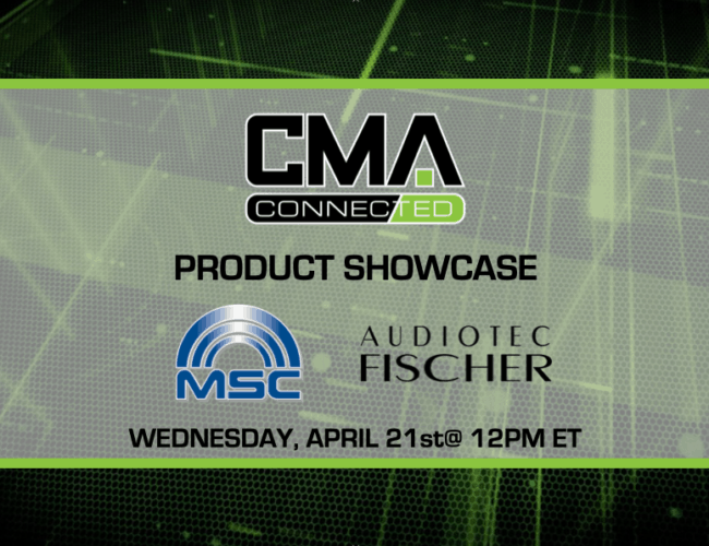 CMA CONNECTED | Audiotec Fischer Contest Finalists