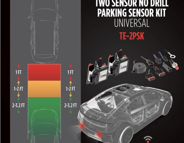 Product Spotlight: iBEAM's Universal Two Sensor No Drill Parking Sensor Kit
