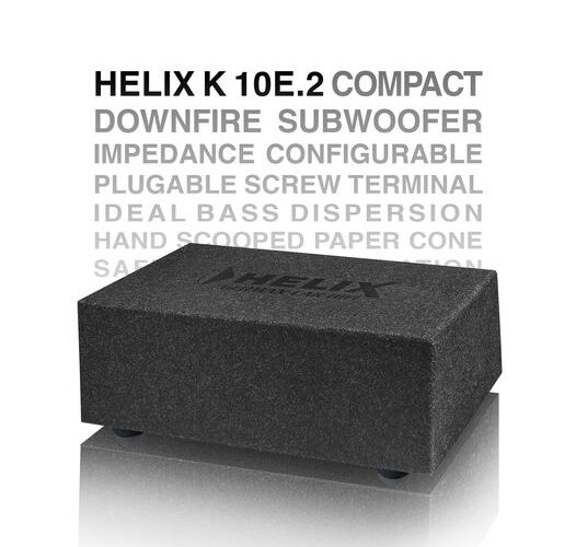 Product Spotlight | Helix K10 E.2 Compact Downfire Subwoofer from Audiotec Fischer