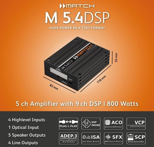 Product Spotlight | The MATCH M 5.4DSP from Audiotec Fischer