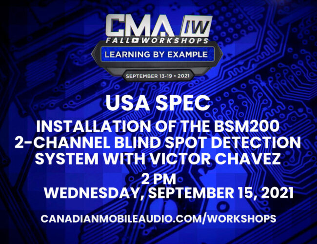 USA SPEC – Installation of the BSM200 Multi-Channel Blind Spot Detection System with Victor Chavez