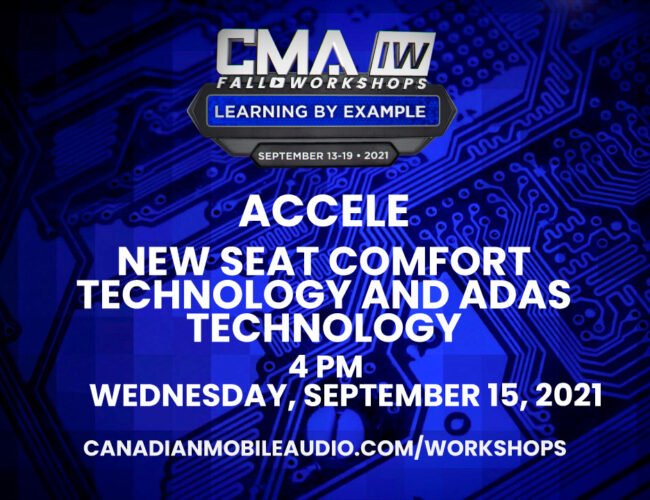 Accele – New Seat Comfort Technology and ADAS Technology