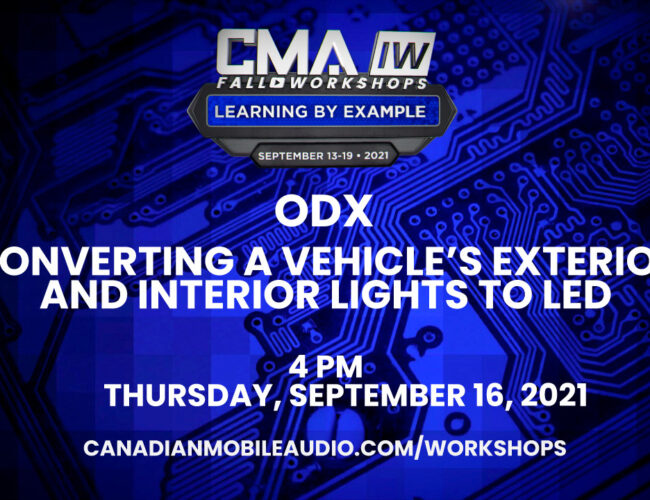 ODX – Converting a vehicle's exterior and interior lights to LED