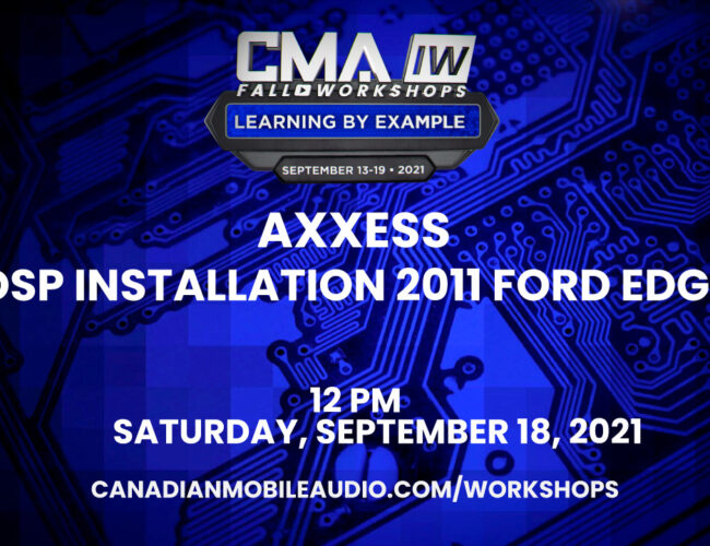 Axxess – DSP Installation 2011 Ford Edge