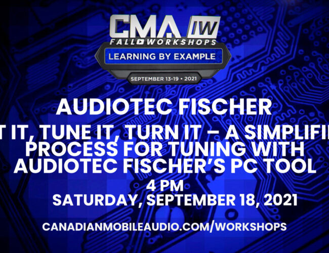 Audiotec Fischer – Fit it, Tune it, Turn it – A simplified process for tuning with Audiotec Fischer's PC Tool