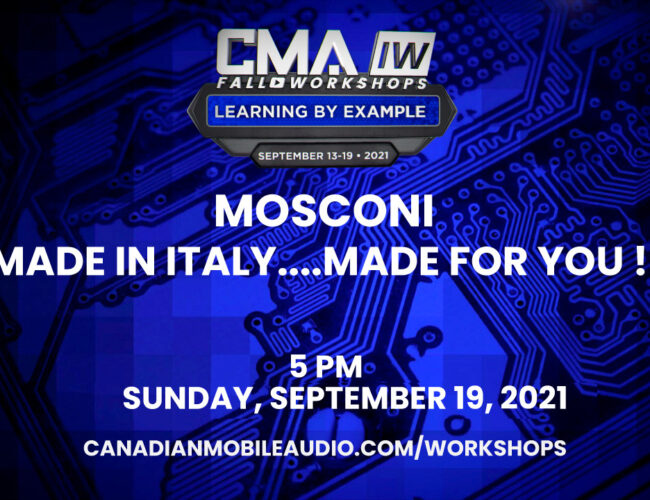 Mosconi – MADE IN ITALY….MADE FOR YOU !!