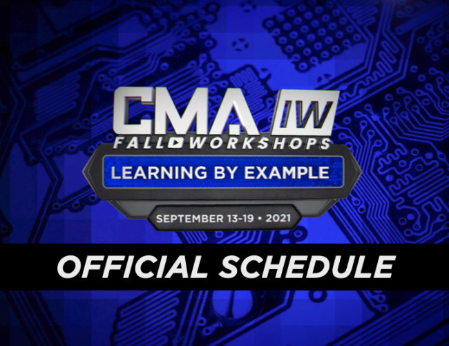 2021 CMA Fall Workshops – Official Schedule